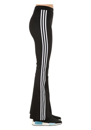 FLARED COTTON BLEND TRACK PANTS