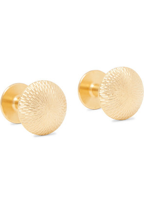 Alice Made This - James Brushed Gold-plated Cufflinks - Gold