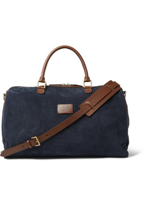 Suede And Full-grain Leather Holdall