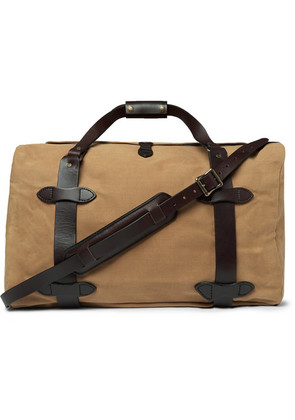 Filson - Leather-trimmed Twill Duffle Bag - Tan