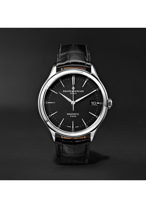 Clifton Baumatic Automatic 40mm Stainless Steel And Alligator Watch