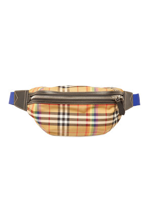 Burberry Checked Belt Bag with Leather