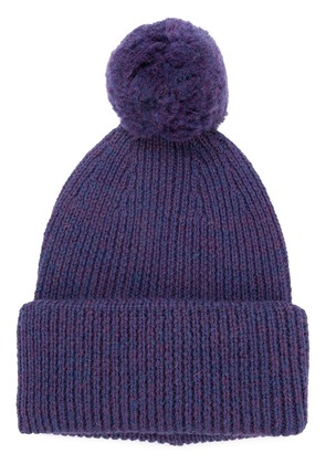 Golden Goose Deluxe Brand ribbed bobble hat - Purple