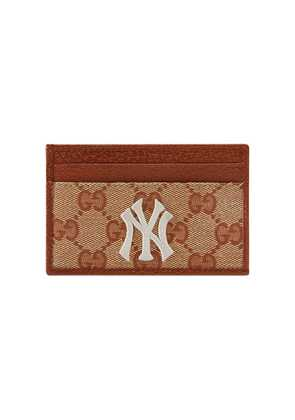 Gucci Original GG card case with NY Yankees™ patch - Neutrals