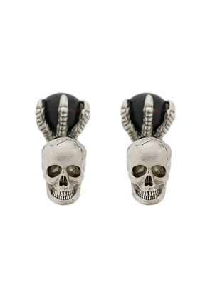 Alexander McQueen Skull and Claw cufflinks - Metallic