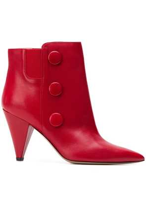 Fabio Rusconi floral ankle boots - Red