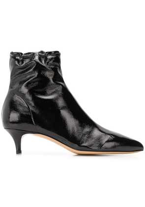 Fabio Rusconi varnished pointed boots - Black