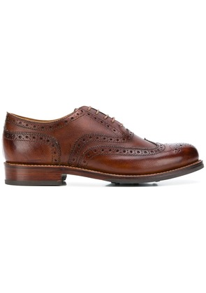 Grenson Stanley brogue shoes - Brown