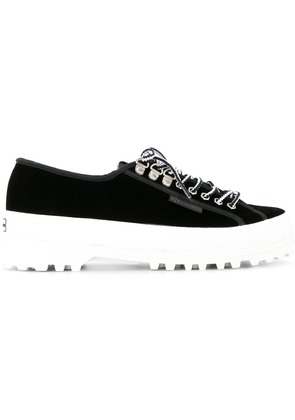 Alexa Chung panelled sneakers - Black