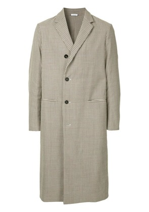 Jil Sander checked long coat - Neutrals