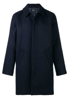 A.P.C. boxy single-breasted coat - Blue