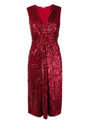 P.A.R.O.S.H. sequin embellished dress - Red