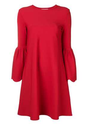 Valentino bell sleeved dress - Red