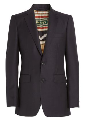 Burberry Slim Fit Wool Mohair Tailored Jacket - Black
