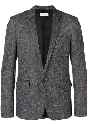 Saint Laurent checkered effect blazer - Black