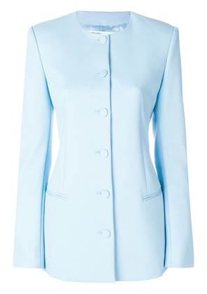 Off-White fitted collarless jacket - Blue