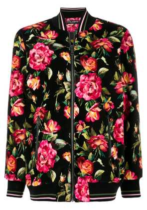 Dolce & Gabbana floral bomber jacket - Multicolour