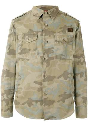 Fay camouflage print jacket - Green