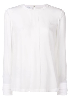 Barba round neck blouse - White