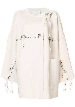 Chloé Embellished wool cardigan - Neutrals