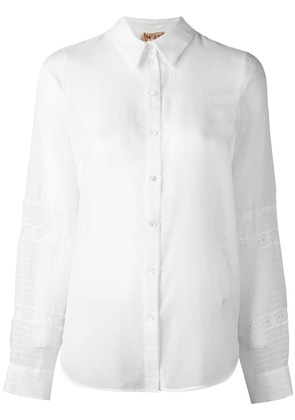 No21 perforated detail shirt - White