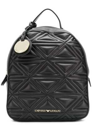 Emporio Armani quilted effect backpack - Black
