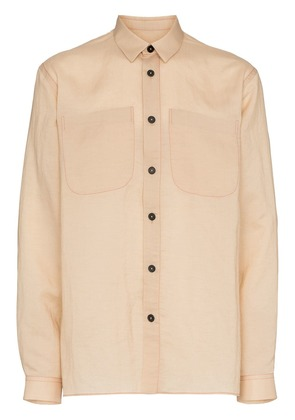 Jil Sander contrast button shirt - Brown