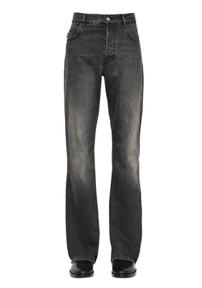 24.5CM BOOT CUT WASHED DENIM JEANS