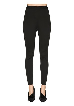 LOGO DETAIL CREPE JERSEY LEGGINGS