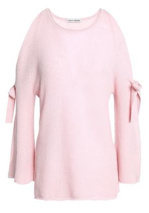 Autumn Cashmere Woman Bow-detailed Cashmere Sweater Baby Pink Size S