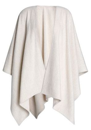 Rag & Bone Woman Brushed Striped Merino Wool Cape Cream Size -