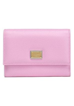 Dolce & Gabbana Woman Textured-leather Wallet Baby Pink Size -