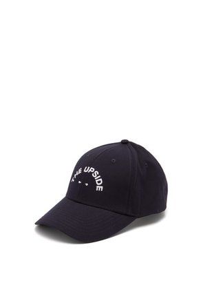 The Upside - Logo Embroidered Cotton Cap - Mens - Navy Multi