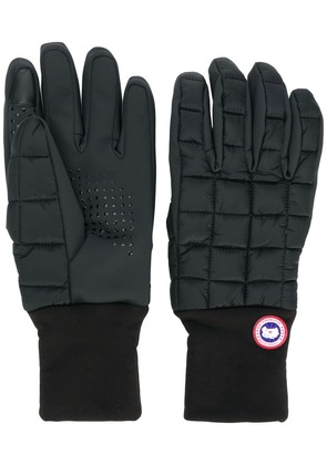 Canada Goose logo padded gloves - Black