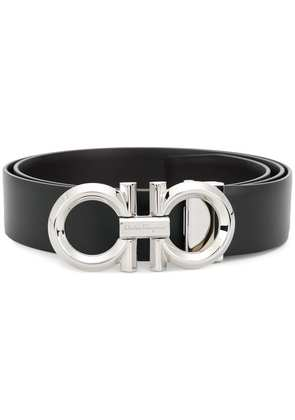Salvatore Ferragamo double Gancio buckle belt - Black