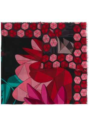 Cha Val Milano flower scarf - Red