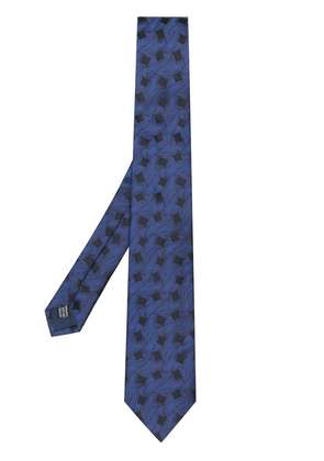 Lanvin pointed square tie - Blue