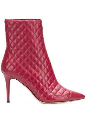 Fabio Rusconi quilted ankle boots - Red