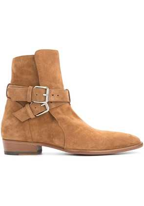 Amiri buckle ankle boots - Brown