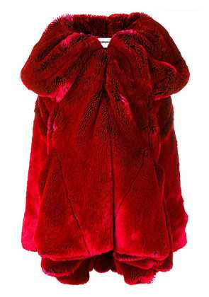 Chalayan short drape collar coat - Red