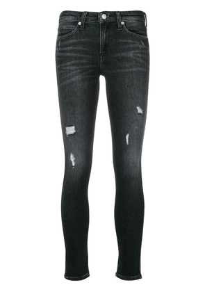 Ck Jeans classic ripped skinny jeans - Black