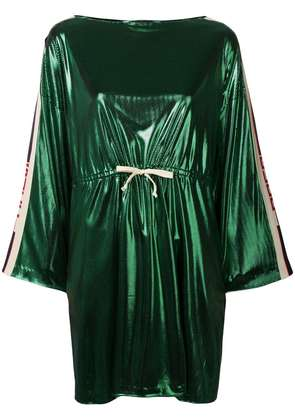 Gucci side panelled short dress - Green
