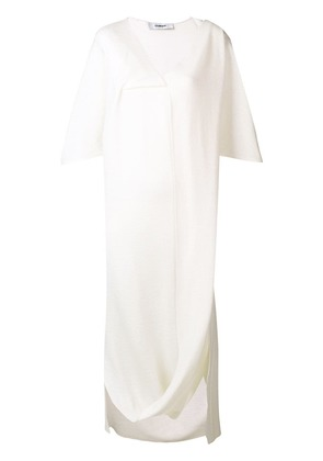 Chalayan pivot drape dress - White