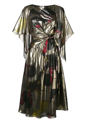 Chalayan cape tie dress - Gold