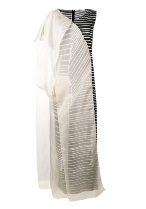 Chalayan organza stripe dress - Black