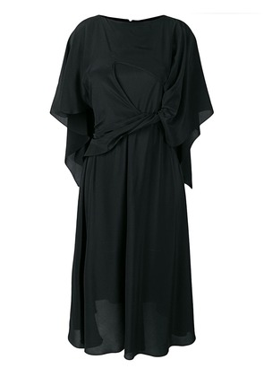Chalayan cape tie dress - Black