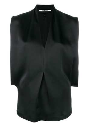 Chalayan V-neck drape top - Black