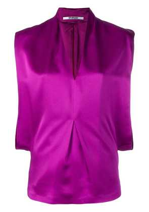 Chalayan V-neck drape top - Purple