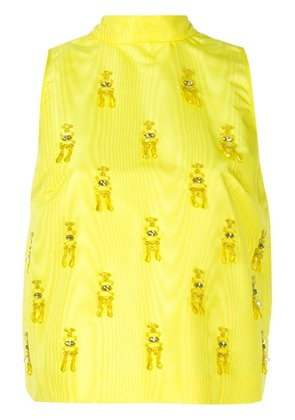 MSGM bow top - Yellow