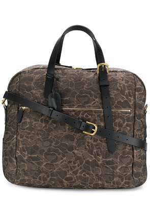Mismo printed holdall - Brown